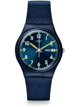 Swatch Originals Sir Blue Blue Dial Silicone Strap Unisex Watch GN718