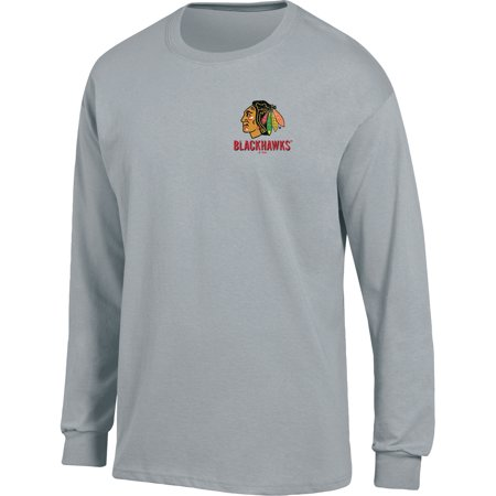 - Men's Heathered Gray Chicago Blackhawks Back Hit Long Sleeve T-Shirt