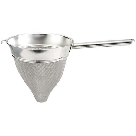 Winco CCB-10, 10-Inch Stainless Steel Bouillon Strainer, Extra Fine