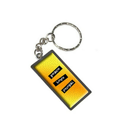 Peace Love Volleyball Metal Rectangle - Volleyball Keychains