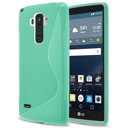 LG G Stylo Case,RANZ Teal Soft TPU Skin S Line Design Cover For LG G Stylo (LS770)/ LG G stylus H631