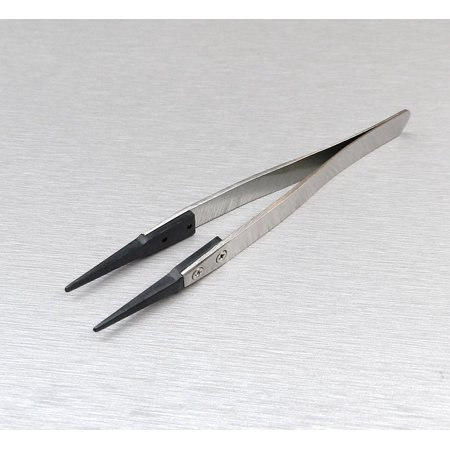 TWEEZERS NON STATIC FIBER ROUNDED TIP PRECISION ANTI-STATIC STAINLESS 5