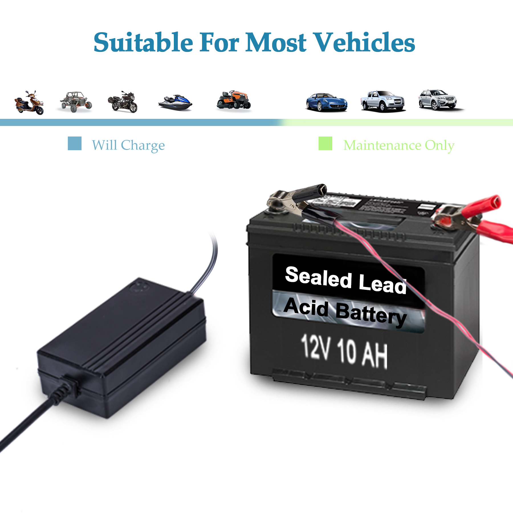Portable 12v Trickle Charger Battery Maintainer For Tender Simple Nimh Circuit Batterycharger Powersupply Motorcycle Car Boat Atv