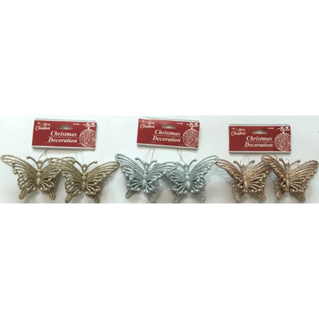 Ornaments In Bulk (New 377726  Hx Ornament Butterfly 2Pcs 5.1X3.1X1.2 W / Asst Clrs (24-Pack) Christmas Cheap Wholesale Discount Bulk Seasonal Christmas Candle Holder)