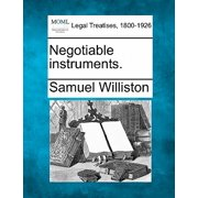 Negotiable Instruments.