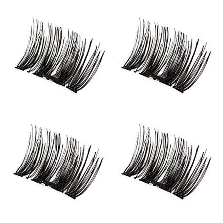 3D Magnetic Eyelash Glue Free Eyelashes 4 Pieces Recycle DIY False Eyelashes - image 7 de 7