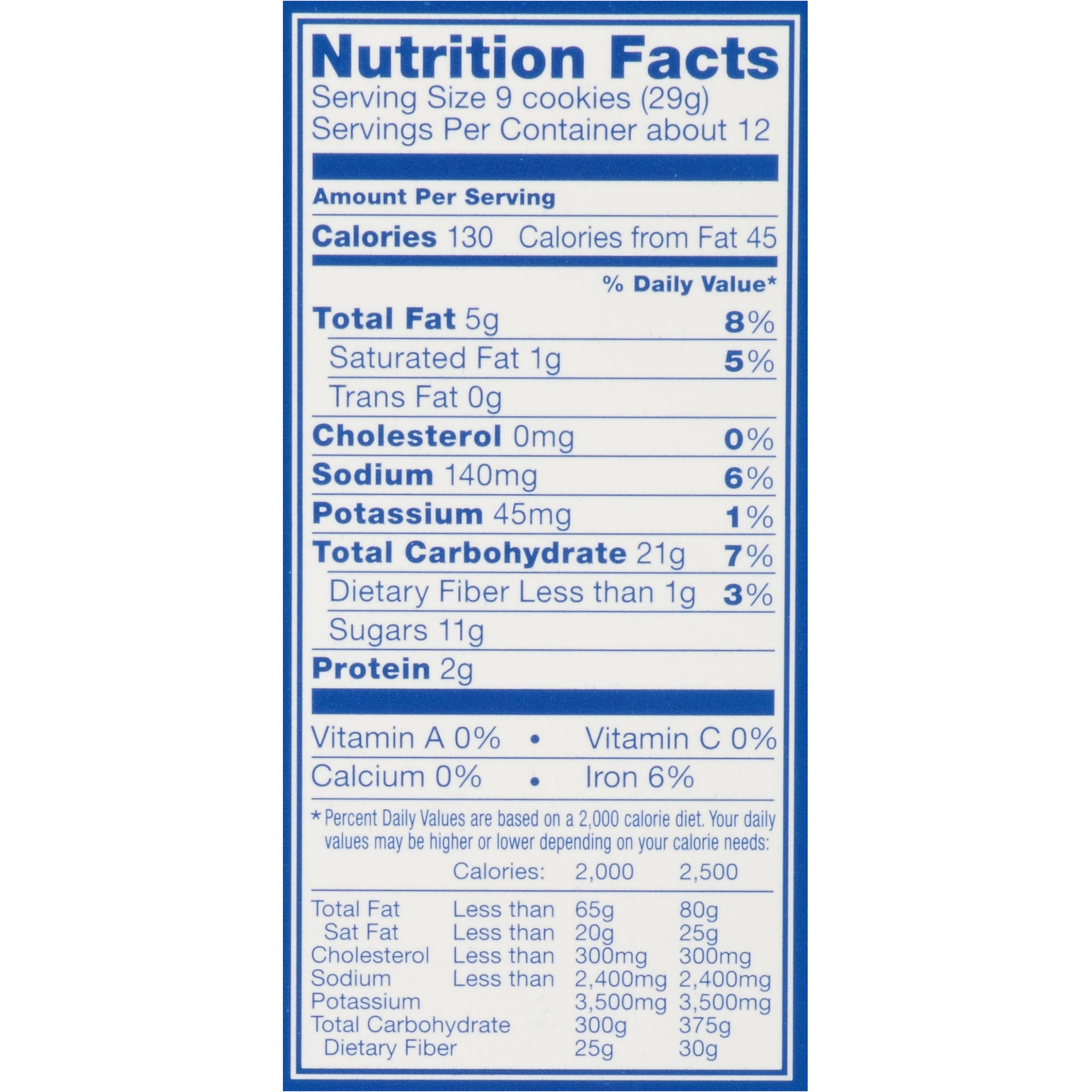 Oreo Nutrition Facts 6 Pack Besto Blog