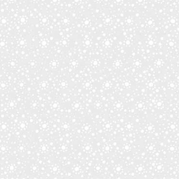 Wilmington Essential 108 Inch Quilt Back Dot Burst White on White