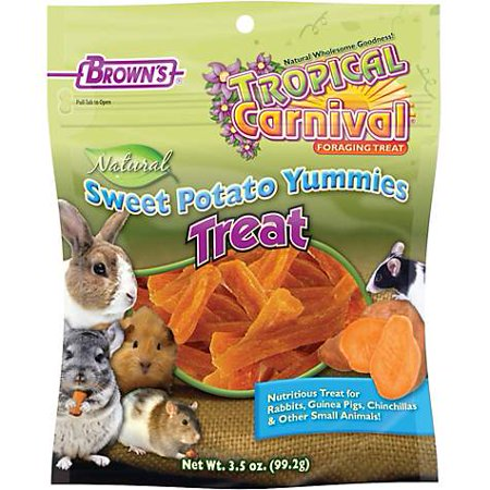 Brown's Tropical Carnival Natural Sweet Potato Yummies Treat, 3.5 (pack of - Carnival Treats