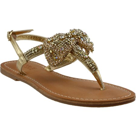 Dolce By Mojo Moxy Womens Sienna    Casual Sandals Shoes - (Gold Sandals Size 11)