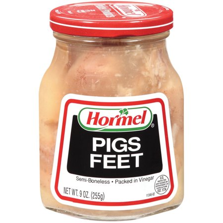 (2 Pack) Hormel Jarred Pigs Feet, Semi Boneless, in Vinegar, 9 (Boneless Cured Ham)