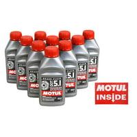 Motul 100951 DOT 5.1 Non-Silicone Brake Fluid - 10 pck with Motul Sticker