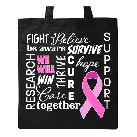 Breast Cancer- Together We Will Win Tote Bag Black One Size - Breast Cancer Bags