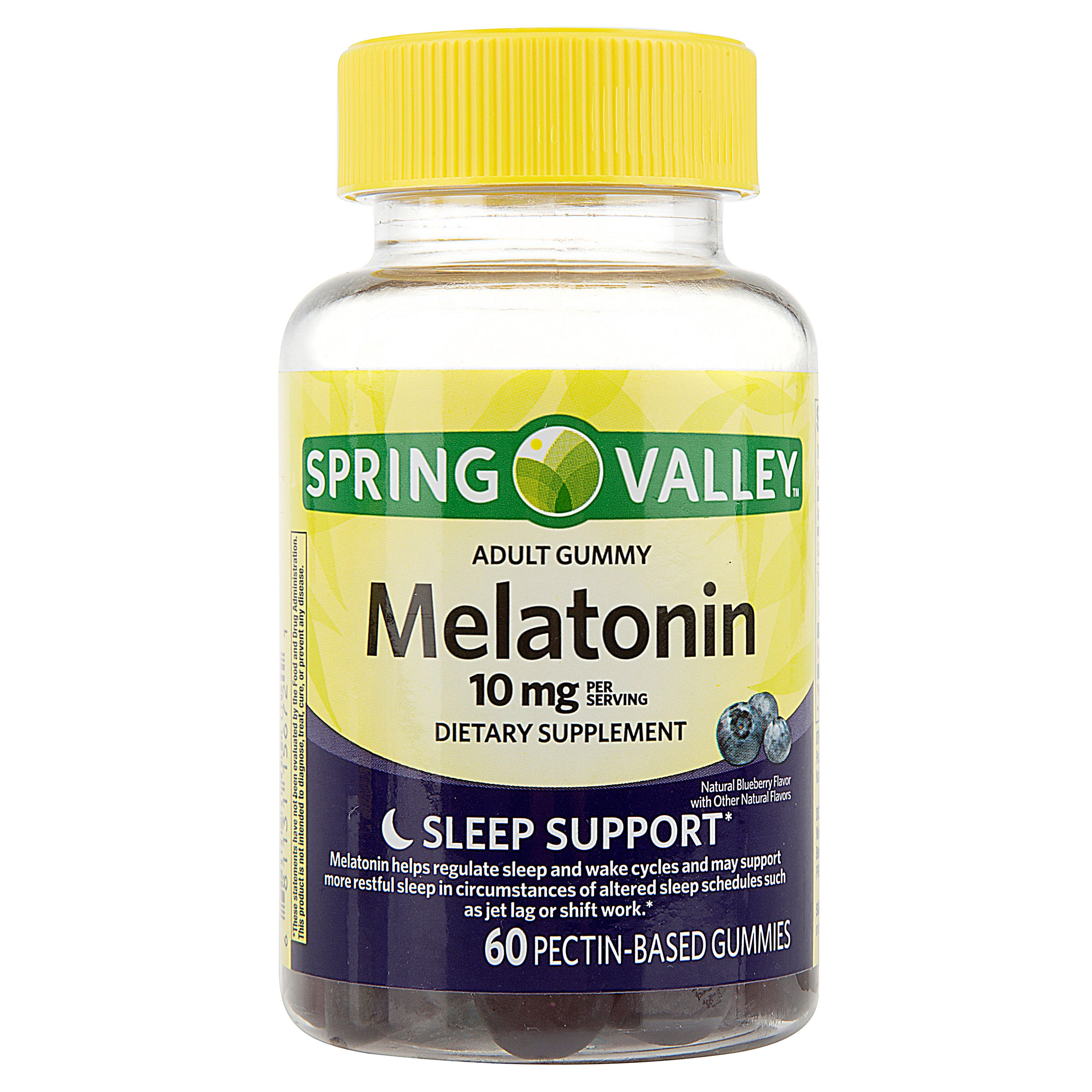 Spring Valley Melatonin Adult Pectin-Based Gummies, 10 mg, 60 count
