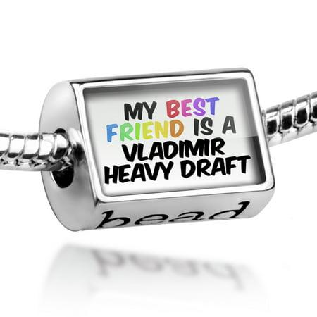 Bead My best Friend a Vladimir Heavy Draft, Horse Charm Fits All European