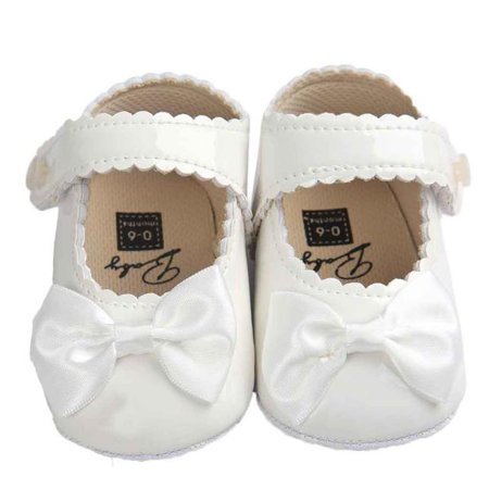 Iuhan Baby Girl Bowknot Leater Shoes Sneaker Anti-slip Soft Sole Toddler](50s Shoes)