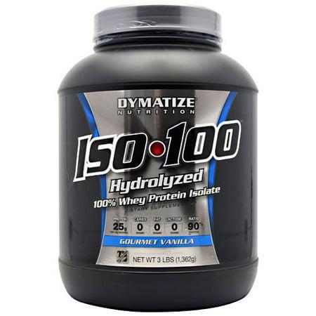 Dymatize ISO-100 Hydrolyzed 100% Whey Protein Isolate - Gourmet Vanilla - 3 LBS