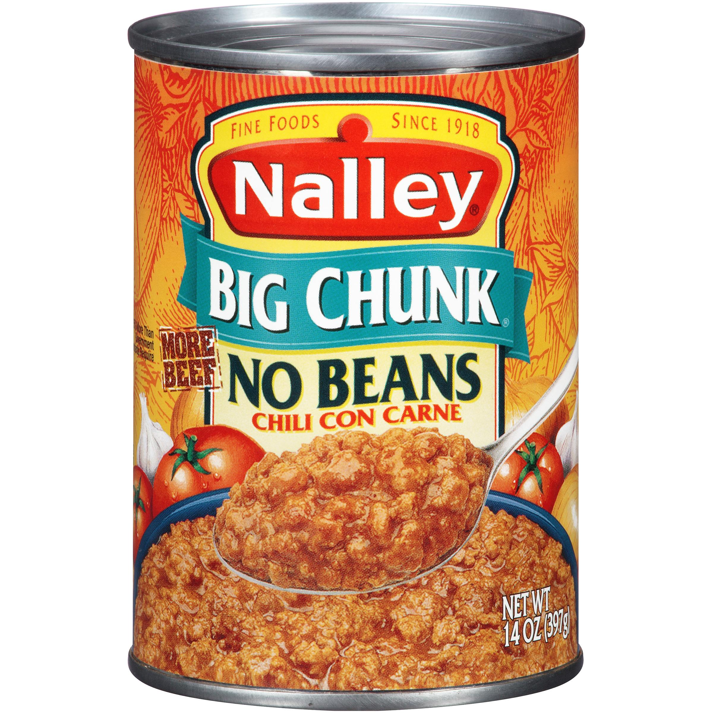 (6 Pack) Nalley Big Chunk Chili Con Carne With No Beans, 15 Oz