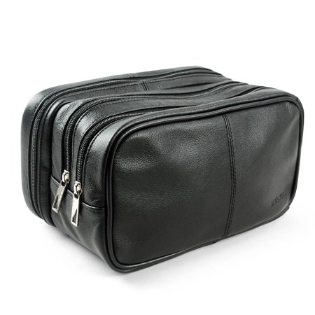 82d5d209f8ef Lavievert Genuine Leather Toiletry Bag Portable Travel Organizer -  Walmart.com