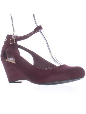 ee9486cdb08 Product Image Womens AR35 Miley Ankle-Strap Wedge Pumps