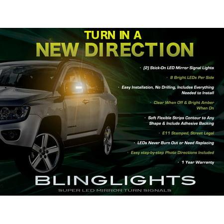 Jeep Compass LED Side Mirror Lights Turn Signal Lamp Set Kit Pair Led Turn Signal Set