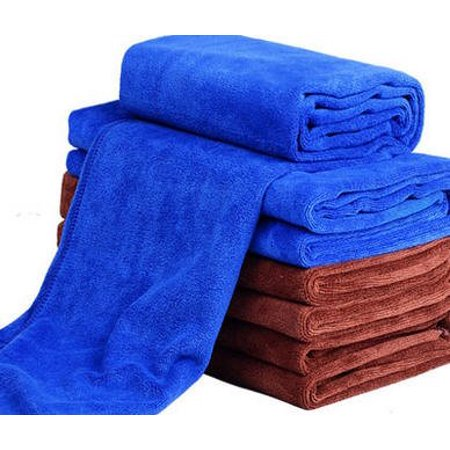 Wellco Car Microfiber Cleaning Drying Towel Coffee 27.56 Inchx11.8 Inch Wash Durable