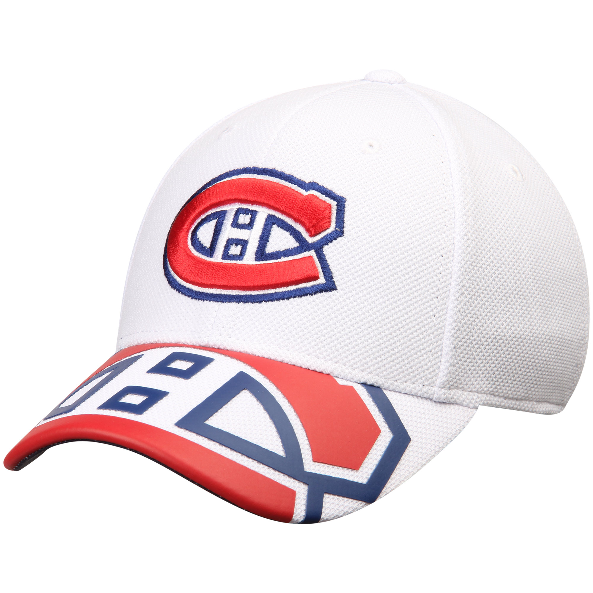 Montreal Canadiens Reebok Face Off Draft Flex Hat - White