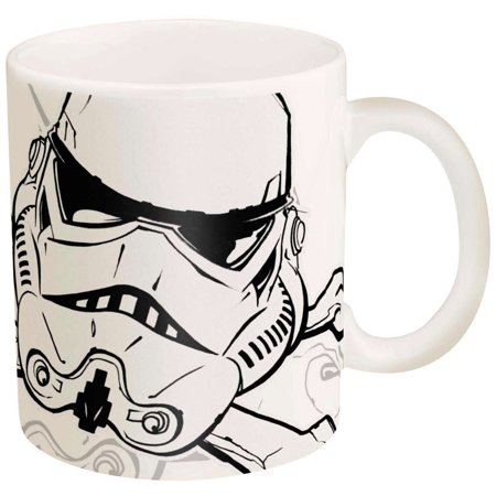 Zak Designs Star Wars Storm Trooper Ceramic Coffee Cup, 11 oz
