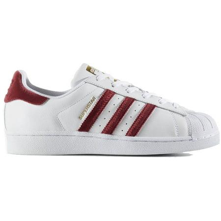 adidas AC7162 : Women's Superstar Sneakers Burgundy/White (10 B(M) US) -  Walmart.com