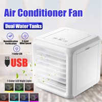 6.5'' Mini USB Air Conditioner Water Cooling Fan Portable LED Cooler Humidifier Office Air Cooler Fan