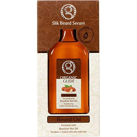 Organic Glide Beard Oil Enriched with Brazilian Nut Oil Probiotic Formula Parabens/ Sodium Chloride Salts Free 100ml