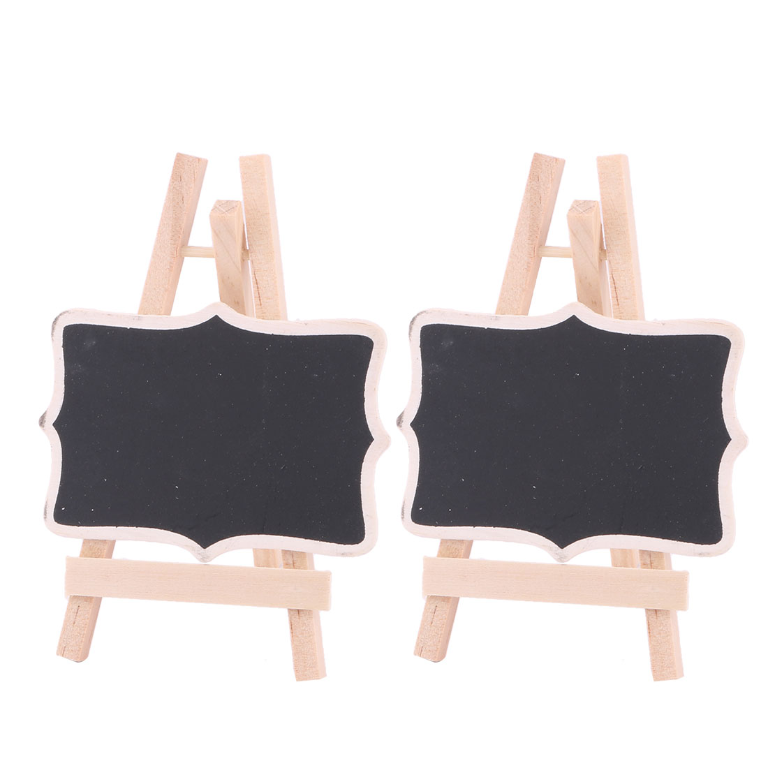 Wood Standing Message Board Table Number Sign Chalkboard Blackboard 2pcs