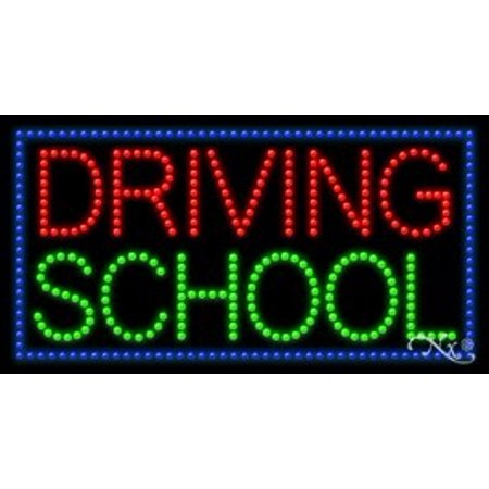 Driving School Led Sign  High Impact  Energy Efficient