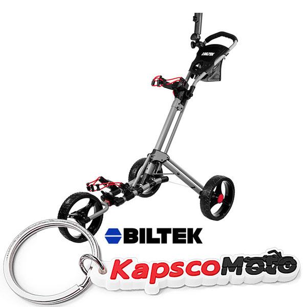 Biltek Biltek Premium 3-Wheel Golf Push Cart Trolley Silv...