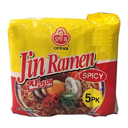 Ottogi Korean Ramen Family Pack  Spicy  4 Pack