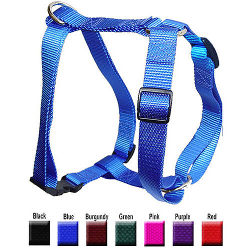 Majestic Pet 20'' - 28'' Adjustable Harness in Multiple Colors Fits Most 40-120 lbs Dogs