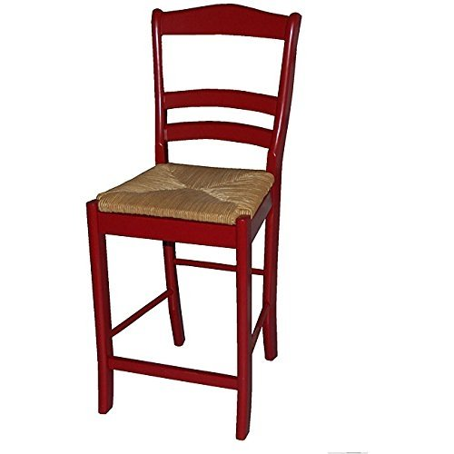Sturdy Durable Slat Back Parker Red 24 Inch Bar Stool Walmartcom