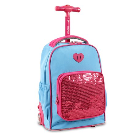 J World Sparkle Kids Rolling Backpack - Walmart.com