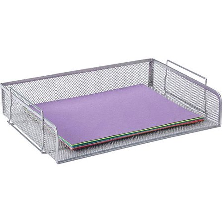 school smart mesh stackable letter tray
