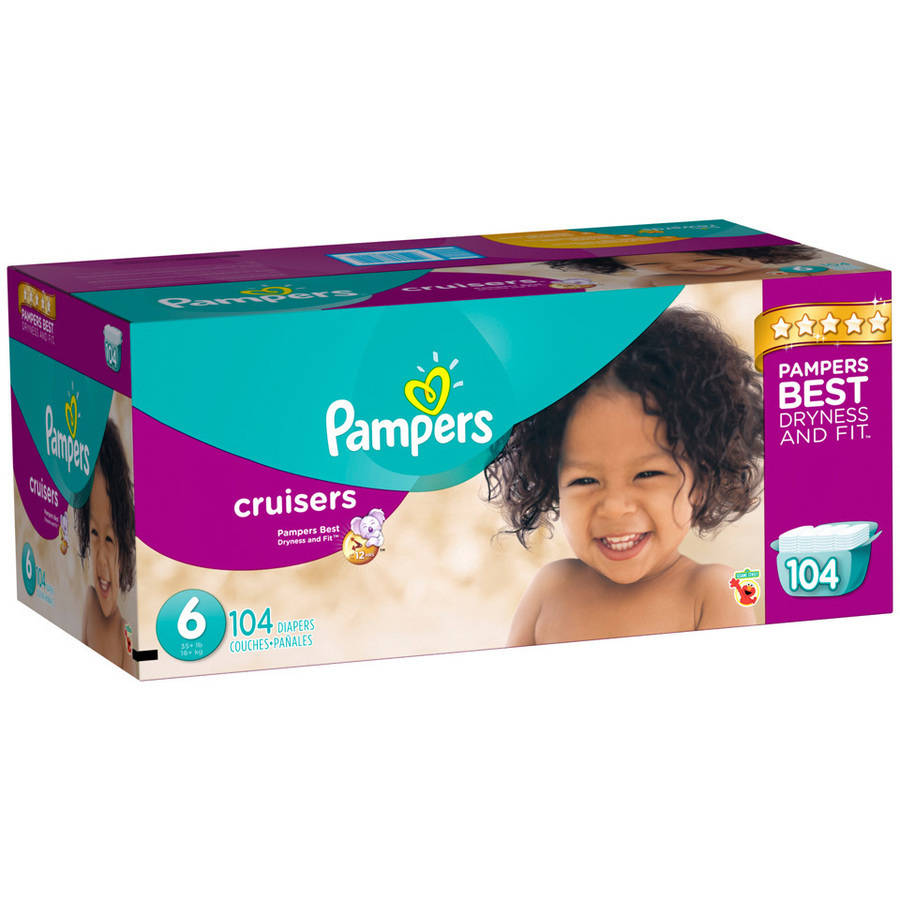 Pampers Cruisers Diapers, Size 6 (Choose Diaper Count)