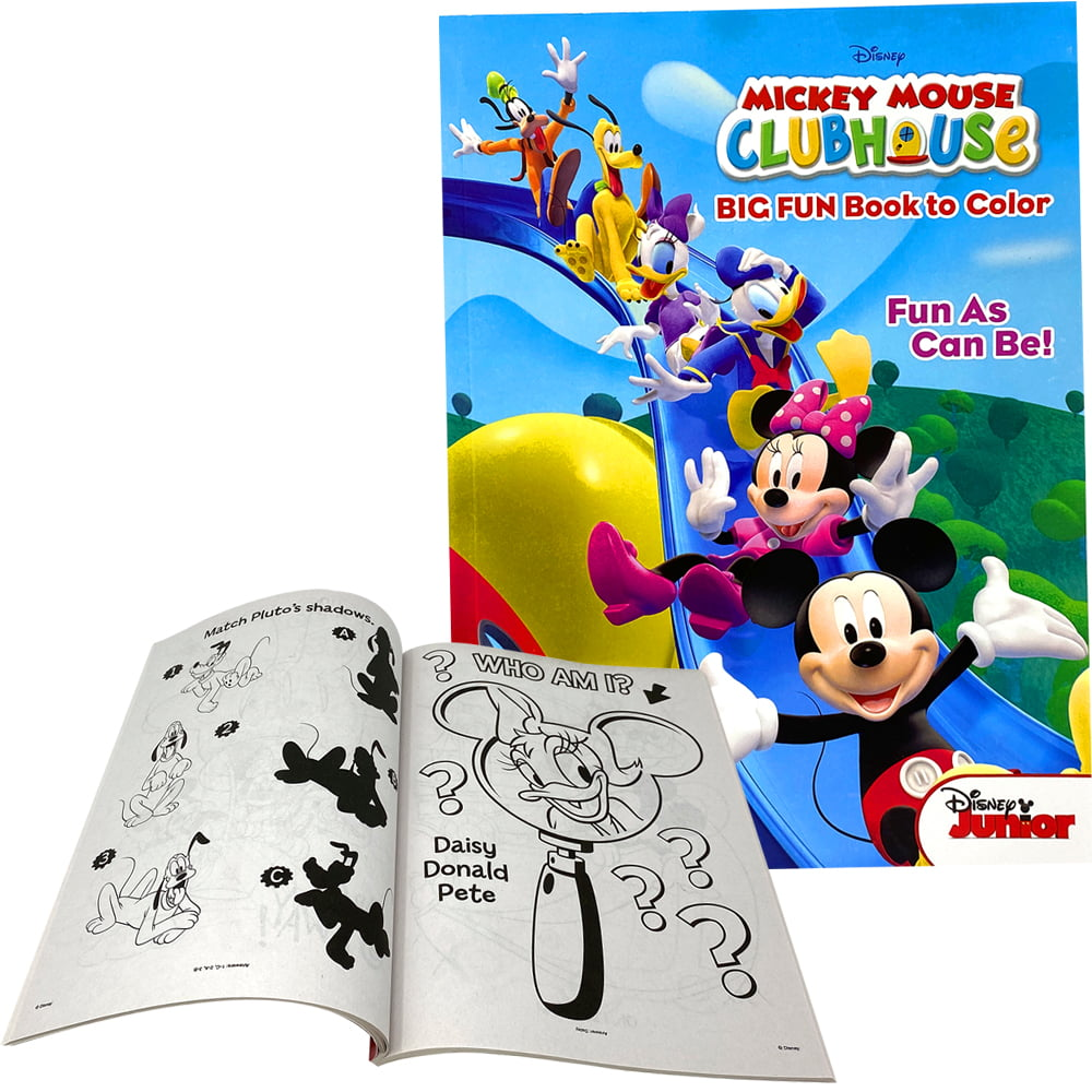 - Disney Mickey Mouse Coloring Book & Activity Game Books For Kids -  Perforated & Eco Friendly Paper - Walmart.com - Walmart.com