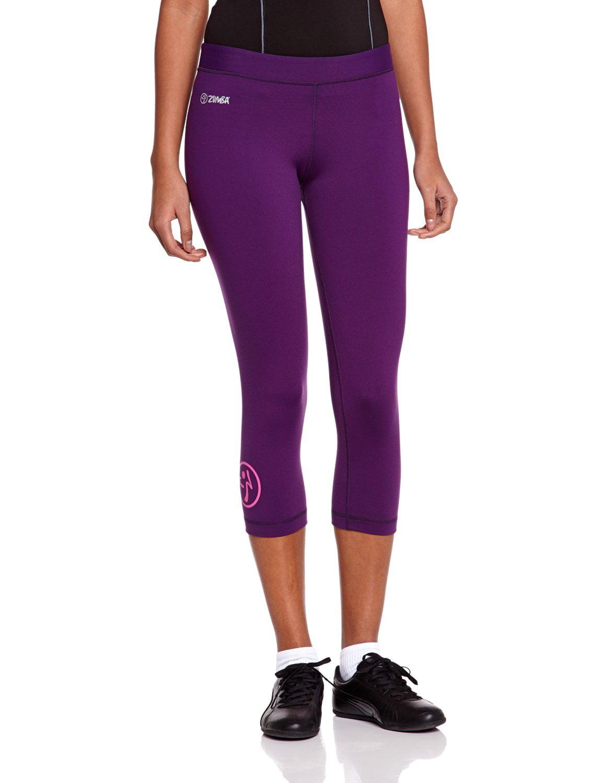 Zumba Fitness Women's Craveworthy Capri Leggings, Purple, Small by Zumba