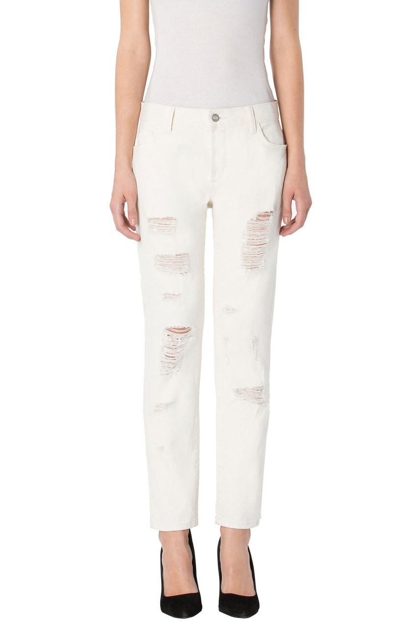 Laura In Bye Bye Baby Jeans - 32 / White