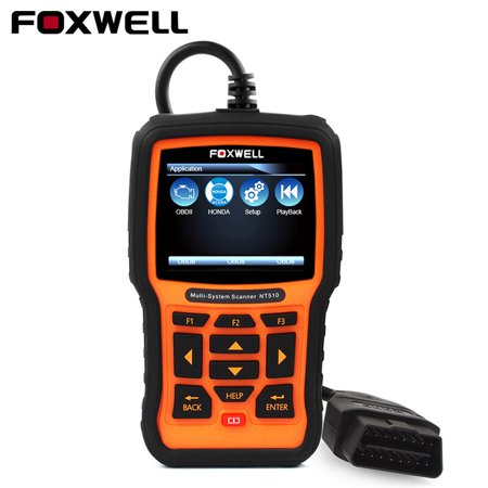 Foxwell NT510 OBD 2 Scanner for Honda Acura Oil Service Reset Transmission ABS SRS Airbag SAS EPB DPF Battery Registration Check Engine Light OBD2 Diagnostic Scan