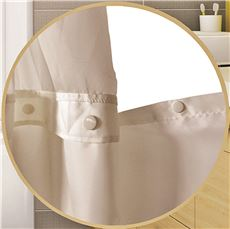 WINGINTS PREHOOK SNAP OUT LINER FOR DUET SHOWER CURTAIN, 150 DENIER POLYESTER, 71 IN. X 57 IN., WHIT