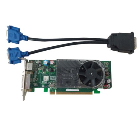 Dell Optiplex 320 330 740 745 755 760 Vostro 200 XPS 210 SFF Low Profile Video Card XX355 w/ Cable for DMS-59 To Dual VGA ()