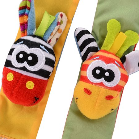 4 x Newest Wrist Rattles Hands Foots finders Baby Infant Soft Toy Developmental by lanlan - image 6 of 7