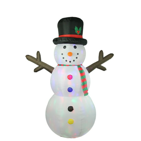 Snowman Christmas Decorations (8' Inflatable Lighted Twinkle Snowman Christmas Outdoor)