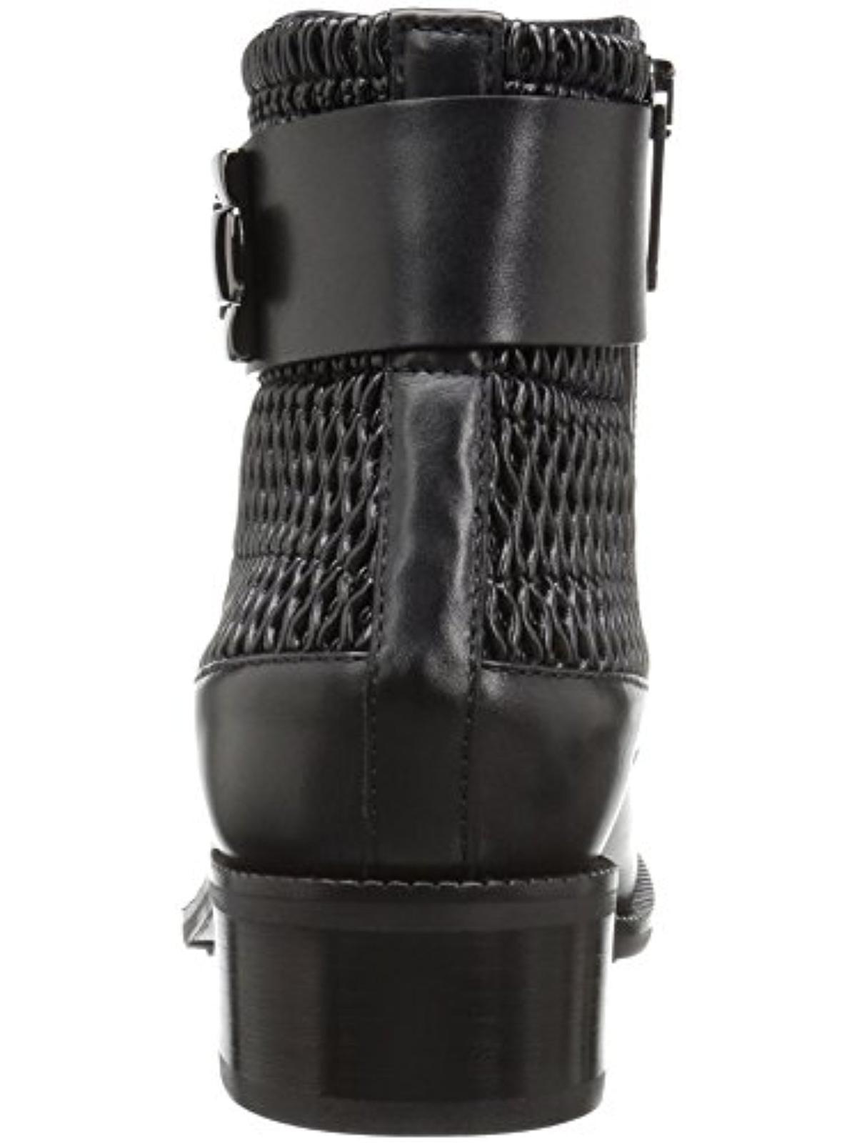 Aquatalia Womens Odette Ankle Buckle Casual Boots Black 6.5 Medium (B,M)