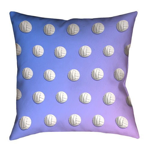 East Urban Home Volleyball 100pct Cotton Pillow Cover